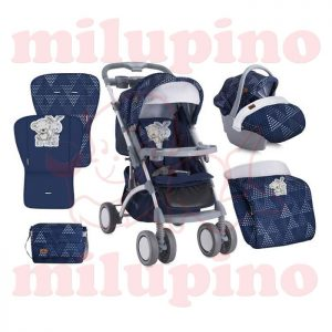 Loreli Bertoni kolica Apollo set Dark Blue Friends