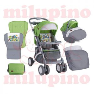Loreli Bertoni kolica Apollo set Green and Grey Car