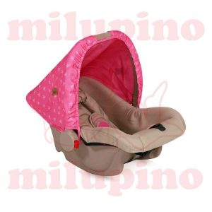 Auto sedište Bodyguard Beige and Rose Princess 0-10kg