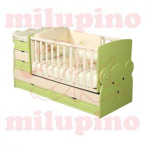 Bebi snovi Meda krevetac 4u1 Green