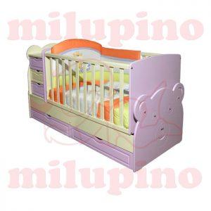 Bebi snovi Meda krevetac 4u1 Purple