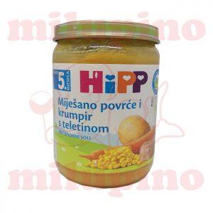 hipp kašica mešano povrće i krompir sa teletinom 190g