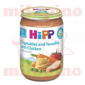 hipp kašica povrće sa testeninom i piletinom 220g