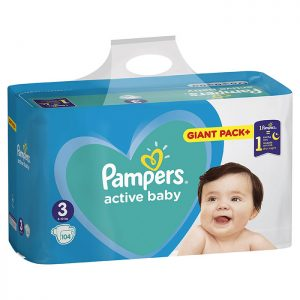 Pampers Active Baby-Dry Giant Pack Midi 3 (6-10kg) 104 kom