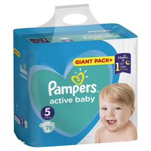 Pampers Active Baby Giant Pack Junior 5 (11-16kg) 78 kom