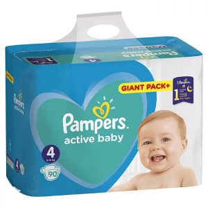 Pampers Active Baby Giant Pack Maxi 4 (9-14kg) 90 kom
