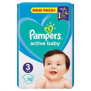 Pampers Active Baby Jumbo Pack Midi 3 (6-10kg) 70 kom
