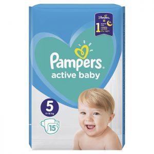 Pampers Active Baby Junior 5 (11-16kg) 15 kom
