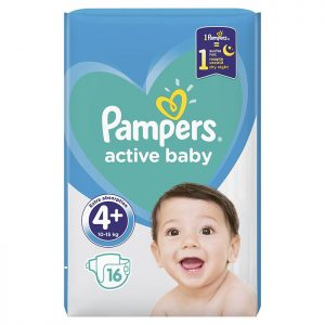 Pampers Active Baby Maxi 4+ (10-15kg) 16 kom