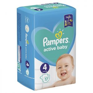 Pampers Active Baby Maxi 4 (9-14kg) 17 kom