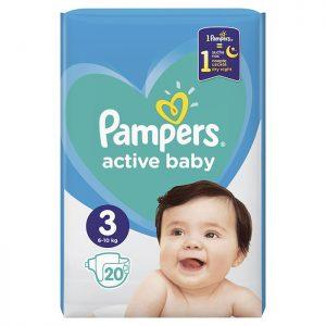 Pampers Active Baby Midi 3 (6-10kg) 20 kom