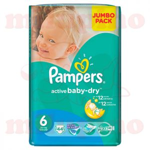 Pampers Active Baby-Dry Jumbo Pack Extra Large 6