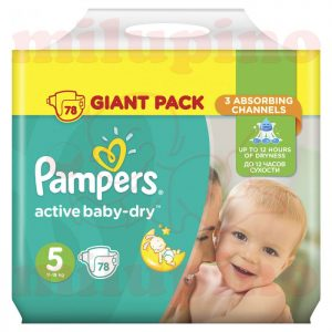 Pampers Active Baby-Dry Giant Pack Junior 5 (11-18kg) 78 kom
