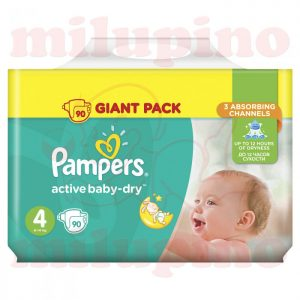 Pampers Active Baby-Dry Giant Pack Maxi 4 (8-14kg) 90 kom