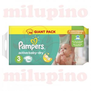 Pampers Active Baby-Dry Giant Pack Midi 3 (5-9kg) 108 kom
