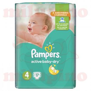 Pampers Active Baby-Dry Maxi 4 (8-14kg) 17 kom