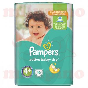 Pampers Active Baby-Dry Maxi 4+ (9-16kg) 16 kom