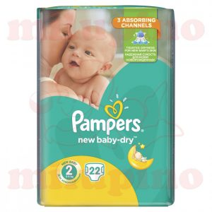 Pampers New Baby-Dry Mini 2 (3-6kg) 22 kom