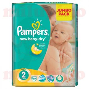 Pampers New Baby-Dry Jumbo Pack Mini 2 (3-6kg) 80 kom
