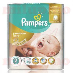 Pampers Premium Care Mini 2 (3-6kg) 80 kom