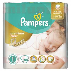 Pampers Premium Care Newborn 1 (2-5kg) 88 kom
