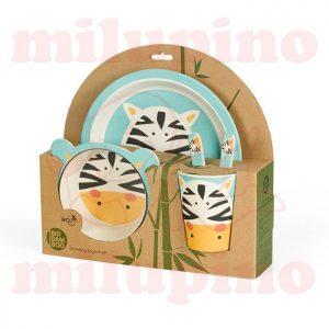 Pino Bambus set za jelo BB102 Zebra