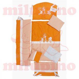Posteljina za krevetac Tri drugara narandžasta