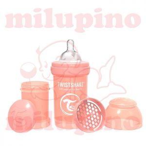 Twistshake anti-colic flašica Pastel 180ml Narandžasta