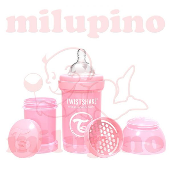 Twistshake anti-colic flašica Pastel 180ml Roze