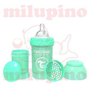 Twistshake anti-colic flašica Pastel 180ml Zelena