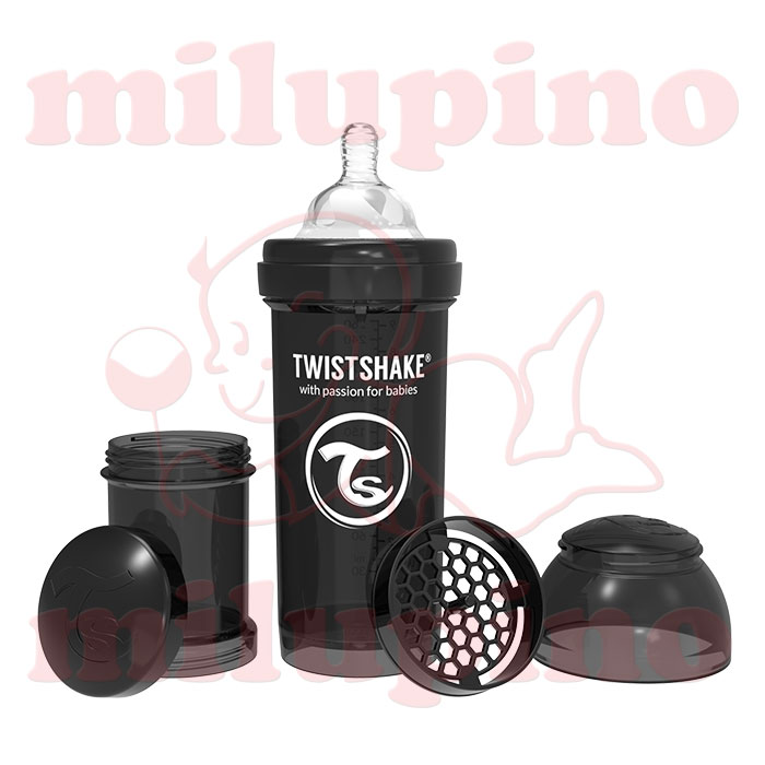 Twistshake anti-colic flašica Pastel 260ml Crna