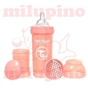 Twistshake anti-colic flašica Pastel 260ml Narandžasta