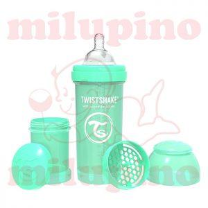 Twistshake anti-colic flašica Pastel 260ml Zelena