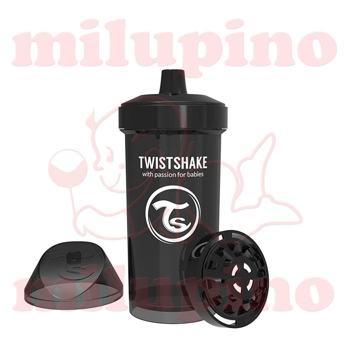 Twistshake dečija flašica Pastel 360ml Crna