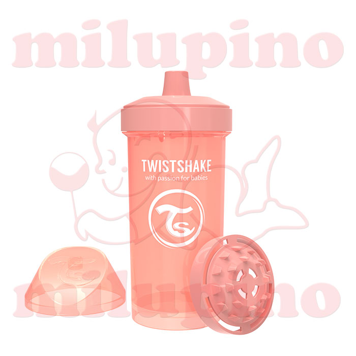 Twistshake dečija flašica Pastel 360ml Narandžasta