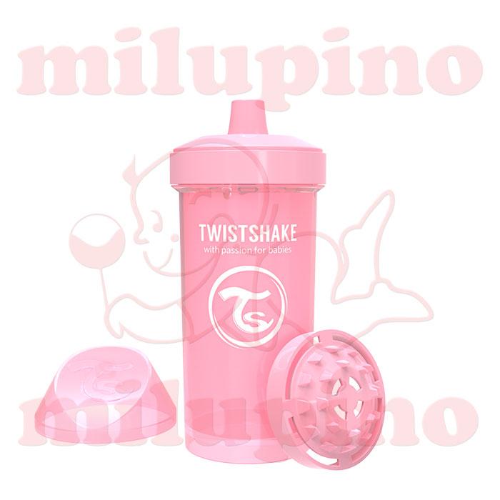 Twistshake dečija flašica Pastel 360ml Roze