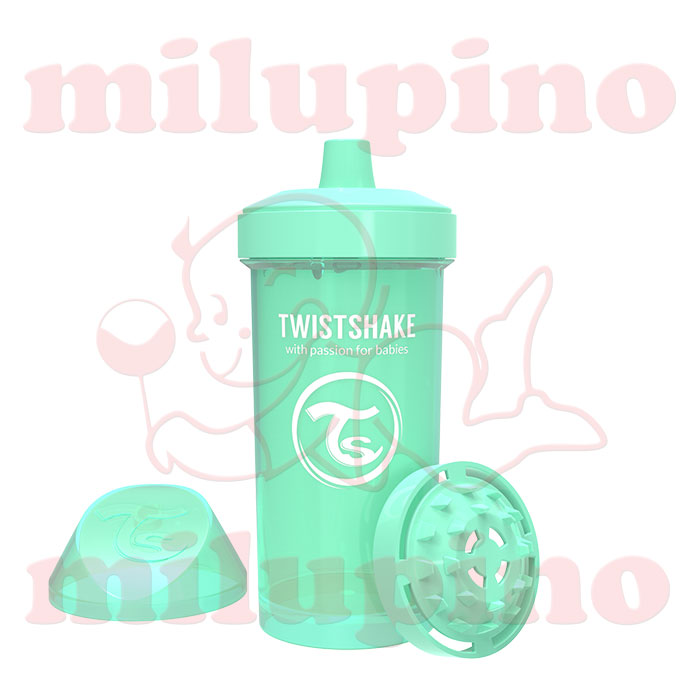 Twistshake dečija flašica Pastel 360ml Zelena