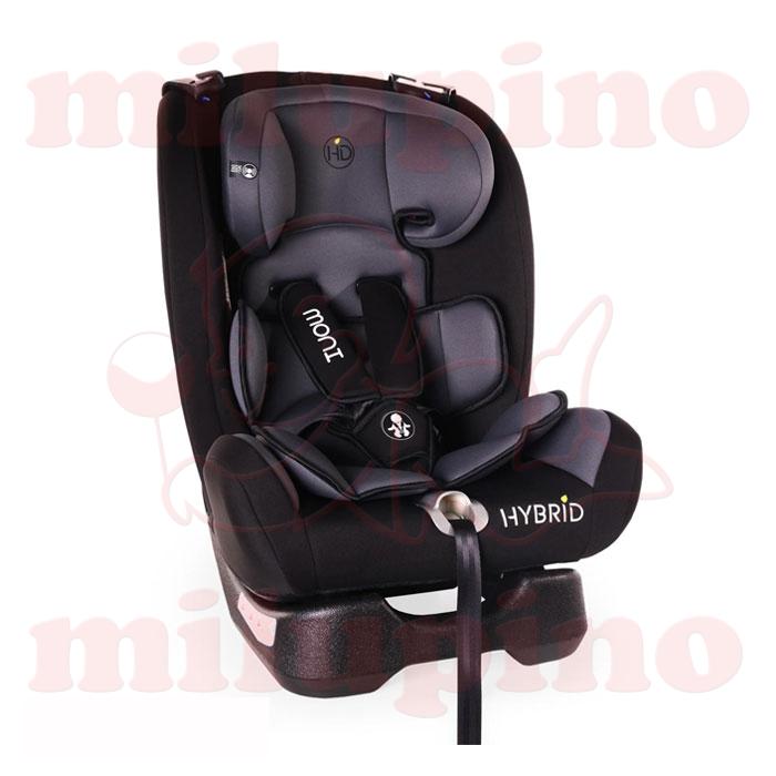 Cangaroo auto sedište Hybrid 0-36kg Black