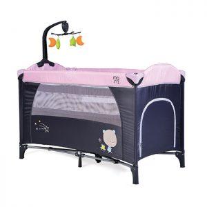 Cangaroo prenosivi krevetac Moon Way 2 nivoa Pink sa muzičkom igračkom
