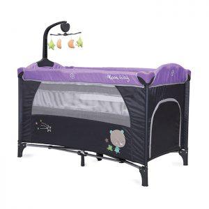 Cangaroo prenosivi krevetac Moon Way 2 nivoa Purple sa muzičkom igračkom