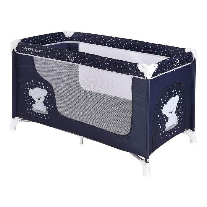 Lorelli Bertoni prenosivi krevetac 1 nivo Moonlight Dark Blue Teddy Bear