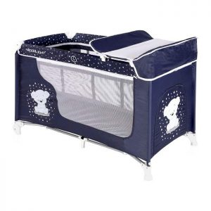 Lorellli Bertoni prenosivi krevetac Moonlight 2 nivoa Blue Teddy Bear