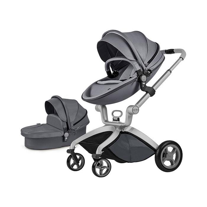 Hot Mom kolica 2u1 Dark Grey (sportsko sedište i korpa)