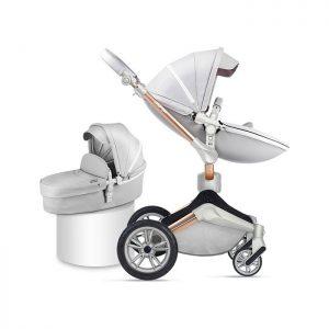 Hot Mom kolica 2u1 Grey (sportsko sedište i korpa)