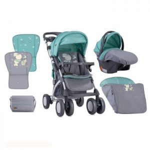 Lorelli Bertoni Kolica Toledo set Grey Green Bunnies