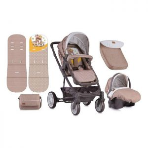 Lorelli Bertoni kolica S-500 Beige Yellow Happy Family