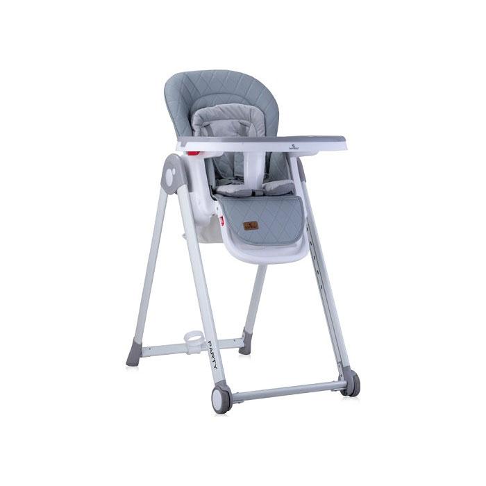 Lorelli stolica za hranjenje Party Grey PU Leather
