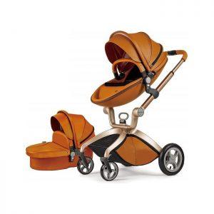 Hot Mom kolica 2u1 Brown (sportsko sedište i korpa)
