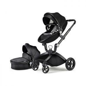 Hot Mom kolica 2u1 Black (sportsko sedište i korpa)