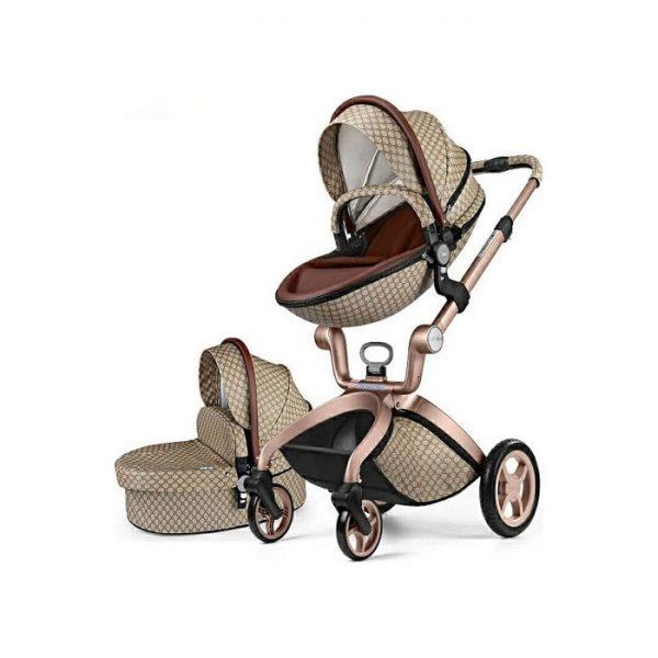 Hot Mom kolica 2u1 Light Brown (sportsko sedište i korpa)